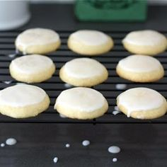 Lemon Cookies ~ tripled this recipe and left off the corn flakes, then iced them <3