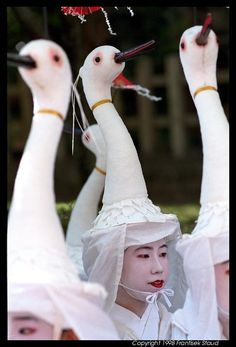 Heron dance performed during Gion festival in Kyoto~ ♛
