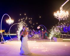 Fireworks and special effects are great at Destination Weddings