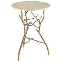 We won't mince words: Margaux is an imposter. True, she's crowned with a 100% marble slab top. And her flair for the dramatic is unquestionably real. But those branch table legs? Please. A flagrant forgery—hand-forged, in fact, from hand-painted wrought iron. Yes, Margaux is a phony through-and-through. But with looks like that, who cares? Nauxbody.