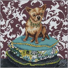 Chihuahua Red - Cross Stitch Kits by RTO - M266