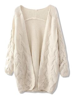 Beige Twists Knit Cardigan