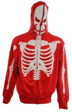 $39.95 Full-Zip Up Glow in the Dark Red Skeleton Sweatshirt Hoodie Costume (Adult Small) Calhoun Sportwear,http://www.amazon.com/dp/B00FL48XJK/ref=cm_sw_r_pi_dp_ULwvsb0F9SS72FQZ