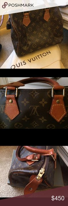 Classic Louis Vuitton Speedy Excellent condition. Comes with bag, key and lock. This bag is 100% authentic in perfect condition. Louis Vuitton Bags Totes