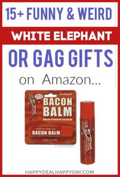 Funny, Weird, and Family Friendly Gift Ideas - Perfect for White Elephant Gift Exchange! #funny #whiteelephant #funnygift #funnychristmas #gaggift #stockingfillers #stockingstuffers Unique Gifts For Men, Gifts For Teens, Gifts For Friends, Gag Gifts, Best Gifts, Funny Gifts, Craft Gifts, Diy Holiday Gifts, Christmas Gifts