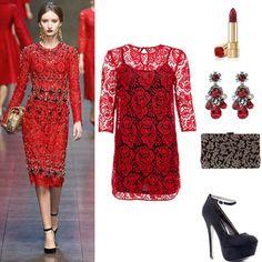 Mujer de rojo – Dolce & Gabbana