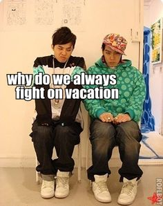 TOP and GD #BIGBANG  LOL