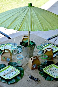 Table at an Earth Day Party #earthday #partytable