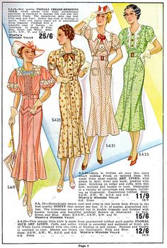 Want/love them all! Worth's Spring & Summer 1937.