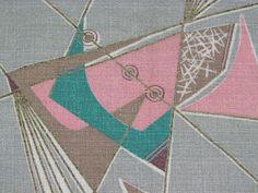 1950s atomic print barkcloth