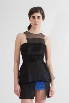 Shop Young & Able Emerging Designer: http://www.shopyoungandable.com KUNG KATHERINE ORGANZA PEPLUM TOP $658.00