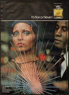 "1976 Print Ad ""It's NOIR or Never"" Perfume 