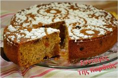 Greek Recipes, Vegan Recipes, Greek Cake, Greek Sweets, Plant Based Recipes, Banana Bread, Biscuits, French Toast, Cookies