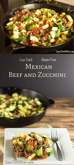 MEXICAN ZUCCHINI AND BEEF SKILLET This low carb Mexican zucchini and ground beef recipe is a simple dish made with low cost ingredients Its an easy low carb high fat din. Beef Recipe Low Carb, Healthy Beef Recipes, Best Low Carb Recipes, Easy Recipes, Chicken Recipes, Cabbage Recipes, Ground Beef Recipes Mexican, Ground Beef Recipes For Dinner, Mexican Food Recipes