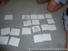 Free Body Systems Memory Game Cards from Highhill Education
