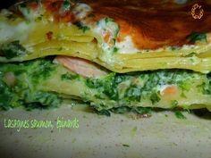 Lasagnes saumon, chèvre et épinards