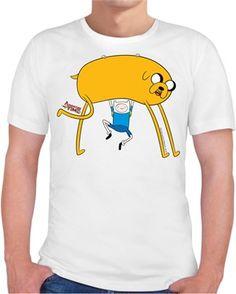 Adventure Time - Jake ve Finn Kendin Tasarla - Erkek Bisiklet Yaka Tişört