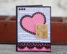 Card by Corri Garza with a file from Lori Whitlock, paper from Pink Paislee Secret Crush @Julia Richey Paislee