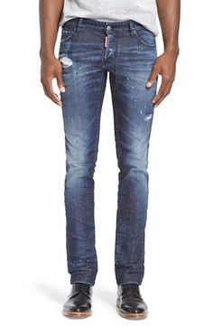 Dsquared2 'Darkness' Distressed Slim Fit Jeans available at #Nordstrom