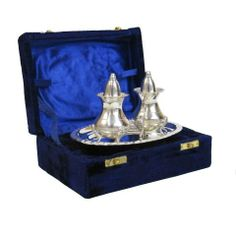 "6 X 5 Inch Chrom plated brass Salt & Pepper set in velvet box by ITDC. $41.39. A Handtooled Handcrafted Chrom plated brass Salt & Pepper set in velvet box,Size:6X5"",Thats Been Beautifully Created And Precision Made And Has Been Designed In A Traditional International Style!!"