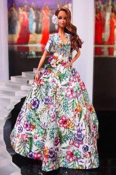 Barbie Miss, Barbie And Ken, Julien Fournié, Ball Skirt, Barbie Collection, Barbie World, Beauty Pageant, Barbie Clothes, Beautiful Dolls