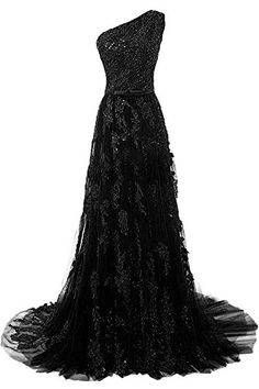 762556f429e HEIMO Women s One Shoulder Evening Party Gowns Lace Appliques Formal Prom  Dresses Long H107 - New