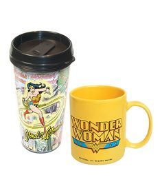 Wonder Woman Mug & Travel Mug | I'm 43. I really want to be Wonder Woman, not supermom, Wonder Woman. Magic lasso, bullet proof wristbands and all. And I don't care.