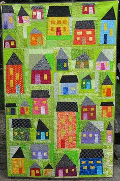 Another cute and bright house quilt.  Need to find Tonya and her tutorial!