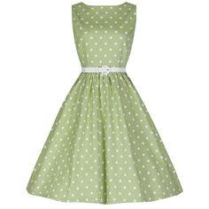 Audrey 1950s Inspired Polka Dot Swing Dress                                             $54.99 AT vintagedancer.com