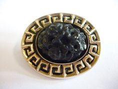 Beautiful victorian mourning 9ct gold greek key by CuriosCorner, £189.99