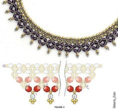 Schema for necklace #Seed #Bead #Tutorials