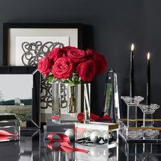 Crystal Block Vase from Williams-Sonoma