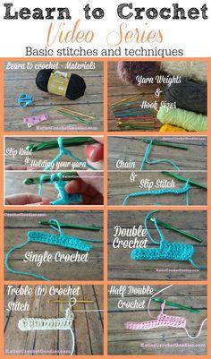 Learn to Crochet Video Series by Katie's Crochet Goodies #crochet #tutorial