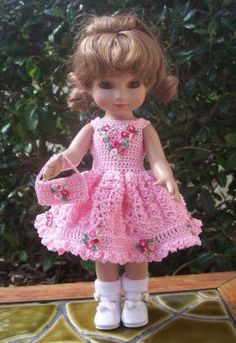Handmade-Crocheted-Dress-Purse-for-Ann-Estelle-Sophie-Patsy-Trixie