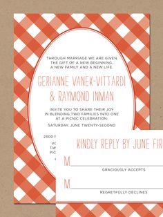 I Like This Invite Announcement The Use Of A More Orange Color Black And White IllustrationPicnic WeddingsTiffany