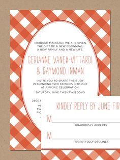 I like this invite/announcement I like the use of a more orange like color rather than typical red really make the piece look classy. Could add a nice black and white illustration of exotic flowers.