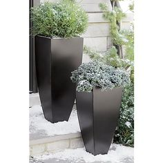 """Bronze 26.5"""" Tall Tapered Planter 