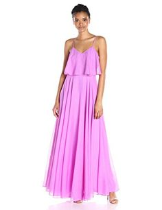HALSTON HERITAGE Womens Sleeveless Scoop V Neck Burnout Ggt Gown Tulip 12 *** Want additional info? Click on the image.
