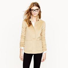 J.Crew  Collection double-faced cashmere popover...Fabulous weekend wear~~