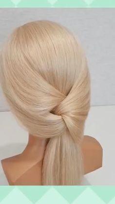 Hairdo For Long Hair, Easy Hairstyles For Long Hair, Ponytail Hairstyles, Long Hair Tips, Wedding Hairstyles, Hair Up Styles, Medium Hair Styles, Hair Tutorials For Medium Hair, Hair Creations