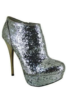 Silver Ankle Bootie. So sparkly!!