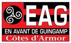 The logo of En Avant de Guingamp football team (Brittany) combines the Flag of Brittany, the team colours and the triskelion.