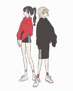 New fashion ilustration sketches stylized ideas Japon Illustration, Cute Illustration, Character Illustration, Illustration Fashion, Cartoon Art, Cute Cartoon, Cute Art Styles, Estilo Anime, Korean Art
