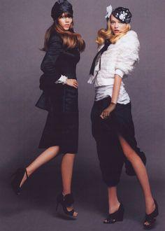 Gemma Ward & Freya Mavor