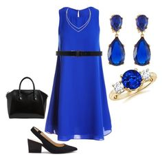 """""""blue 3"""" by vany-flores on Polyvore featuring moda, Sans Souci, Ann Demeulemeester, Sole Society, Givenchy, Kenneth Jay Lane y Lana"""