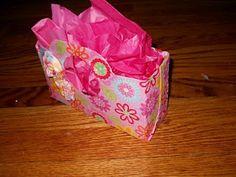 Pinkapotamus: Cereal Box gift bag.. cover in paper instead of fabric