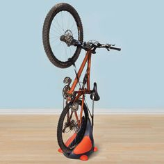 The Space Saving Upright Bike Stand Stores Your Bike in Less Space! http://www.wickedgadgetry.com/2015/05/31/space-saving-upright-bike-stand/ #space #saving #bike #stand