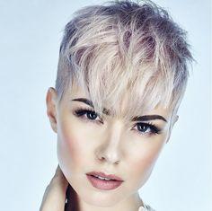 Graue Haarfarben für kurzes Haar