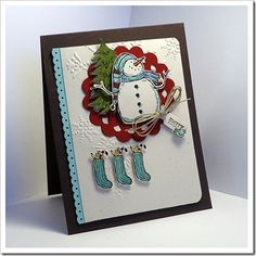 Snow Much Fun, Stampin' Up!, Christmas Stamped Christmas Cards, Christmas Cards To Make, Xmas Cards, Holiday Cards, Snow Much Fun, Snowman Cards, Hand Made Greeting Cards, Winter Cards, Cool Cards