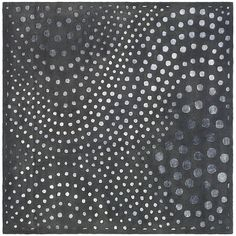 Create a modern setting with this graphic area rug. This handmade rug is made from New Zealand wool. It presents the Soho style with its circular graphic shapes. The dark gray background of this rug complements similar color schemes.